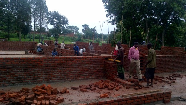 First phase of construction of the maternity hospital in Thyolo, Malawi